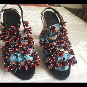 Tory Burch Fun Sandals,Multicolor, High heels,729